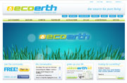 Website Design & Development, Social Media Network, Blog for ecoerth.com
