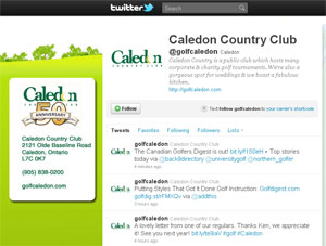 Caledon Country Club - Twitter page